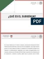 SUBSEMUN 2013 - Presentacion