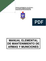 Manual elemental de mantenimiento de armas y municiones - Venezuela
