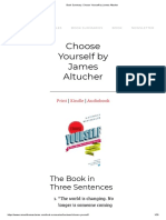 Book Summary_ Choose Yourself by James Altucher
