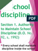 School rules MEETING