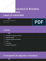Migratia economica in Romania contemporana