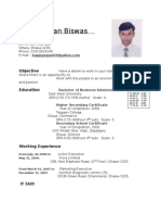 Bappy Cv With Pic