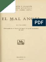 (1921) Hnos. Alvarez Quintero. El Mal Angel