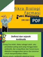 TUGAS PPT ANTIBIOTIK (PUTRI MAIMONA 1911011020)