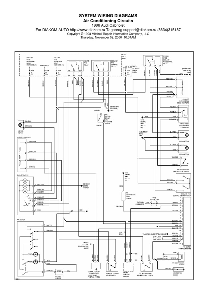 system wiring diagrams air conditioning circuits | sedans | automotive  technologies  scribd