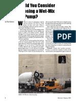 Shotcrete Pump