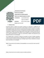 INFORME CROMATOGRAFÍA DE GASES