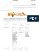 Biologia - Vitaminas V