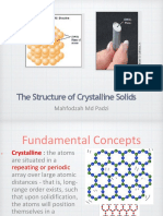 Structure of Crystaline SOlid