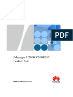 iManager U2000 V200R015 Feature List.xls