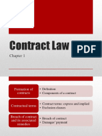 Business Law - week 4 - Contract law 3