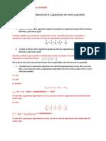 Informe de laboratorio 8 Capacitores en serie y paralelo