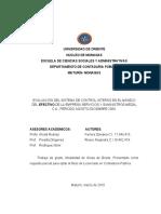 tesis FINAL ALE DAVI (EVALUACIÓN DEL SISTEMA DE CONTROL INTERNO EN EL MANEJO DEL EFECTIVO  empresas medal)