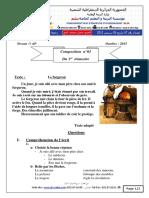 Composition et corrige de fran‡ais n1 5AP 2015.pdf