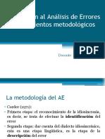 6. AE Procedimientos metodológicos - Errores morfosintácticos