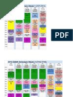 2015 BIMA schedule