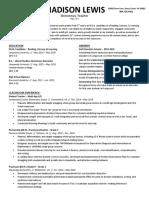 professional resume february 2020 madison lewis