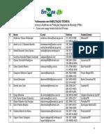 Lista de RTs e Auditores morango