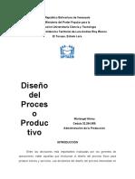 Diseño de Proceso Productivo