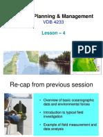 Coastal Planning Management-Lesson4-Hydraulic Study