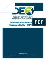 Reemployment Assistance Resource Guide - COVID-19