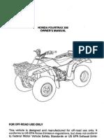 Honda Owner Manual TRX300-1996