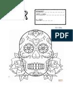 calaveras para colorear SER TENER.pdf