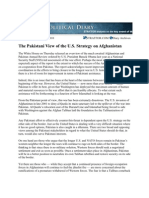 The Pakistani View of the U.S. Strategy on Afghanistan