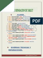 CURSO DE REPARACION DE TABLETS TEMARIO