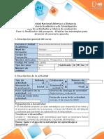 Guía de actividades y rúbrica de evaluación - Fase 4. Realización del proyecto