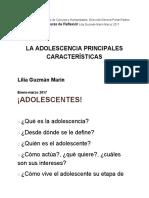 LA ADOLESCENCIA PRINCIPALES CARACTERISTICAS.pdf