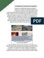 Restauracion ecologica de ecosistemas tropicales