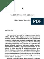 """Silvio Bolaños Salvatierra """"La Reinvindicación del odio"""" Cap. V"""