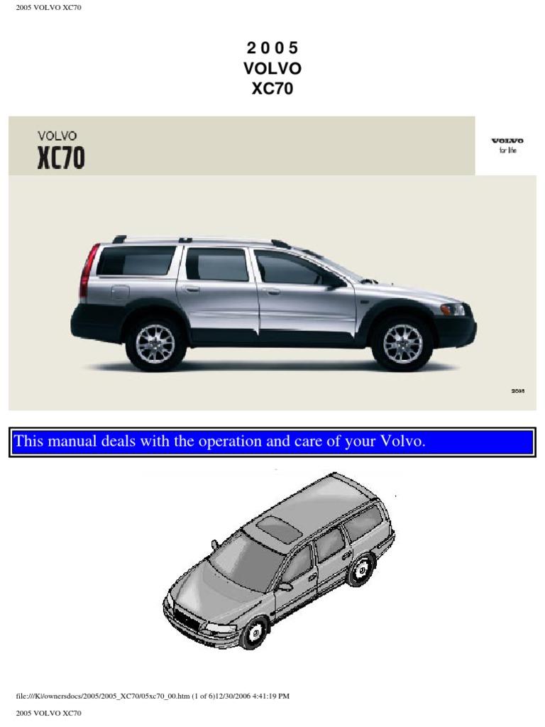 volvo xc70 2005 user manual airbag seat belt rh scribd com volvo xc70 owners manual online volvo xc70 owners manual 2004