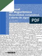 Manual de algorítmica recursividad, complejidad y diseño de algo.pdf