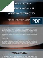 EL SER HUMANO IMAGEN DE DIOS EN EL A.T.