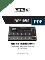 POD HD500 Advanced Guide v2.0 - French ( Rev A )