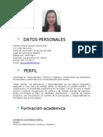 Hoja de Vida Diana Carolina Vela Arenas