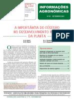A IMPORTANCIA DO FOSFORO NO DESENVOLVIMENTO INICIAL DA PLANTA