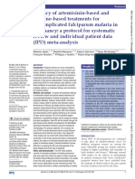 Efficacy of artemisinin-based and quinine-based treatments for uncomplicated falciparum malaria in pregnancy- a protocol for systematic review and individual patient data (IPD) meta-analysis