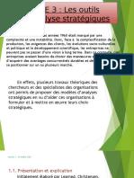 AXE 3 - Les outils d'analyse stratégiques