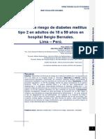 Factores de riesgo de diabetes mellitus tipo 2 en adultos de 18 a 59 años en hospital Sergio Bernales.Lima – Perú.