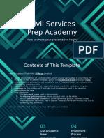 Civil Services Prep Academy by Slidesgo