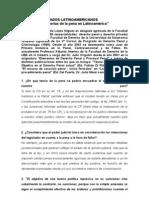 Entrevista Teorías de la pena en Argentina