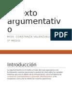 El texto argumentativo 3° medio