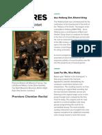 Reed Quintet Recital Program Notes