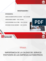 INVESTIGACION I  - SERVICIO POST VENTA-1.pptx