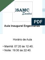 Aula Inaugural - Engenharias