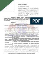 Decreto 36664 de 2020 altera decretos 33856 e 33857 de 2016