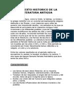 CONTEXTO HISTORICO DE LA LITERATURA ANTIGUA